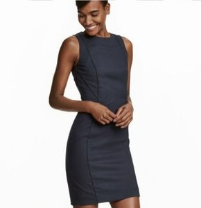 NWT H&M Navy Fitted Dress